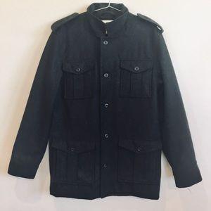 Old Navy Gray Wool Peacoat Jacket Coat L